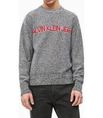 sweater regular institutional gris calvin klein