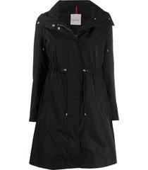 moncler funnel-neck drawstring-waist coat - black