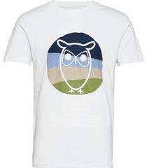 alder colored owl tee - gots/vegan t-shirts short-sleeved vit knowledge cotton apparel