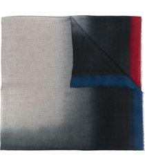 faliero sarti gradient-effect knit scarf - grey