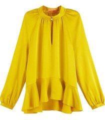 blouse peplum geel