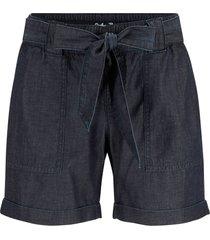 shorts in misto lino effetto jeans (blu) - john baner jeanswear