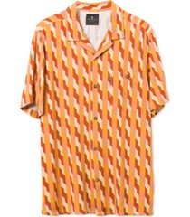 junk food men's alexei short sleeve printed camp shirt