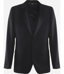 dolce & gabbana suit made of virgin wool with silk inserts