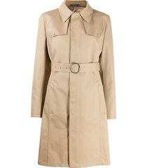 maison margiela button-front trench coat - brown