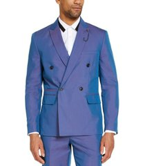 inc men's slim-fit double-breasted iridescent blazer, created for macy's