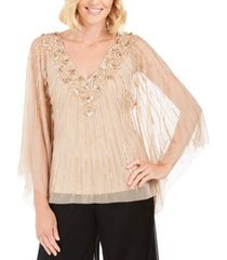 adrianna papell beaded kaftan top