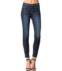 flying monkey mid rise regular hem skinny crop jeans