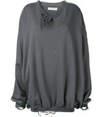 almaz distressed sweatshirt - grey