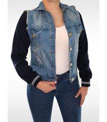 chaqueta clásica dama jeans azul di bello jeans  classic jacket ref c095