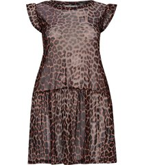 tunika carmesh leopard dress