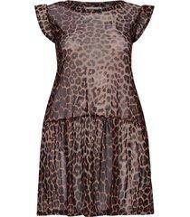 tunika carmesh leopard dress