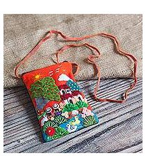cotton blend cell phone case, 'afternoon in the andes' (peru)