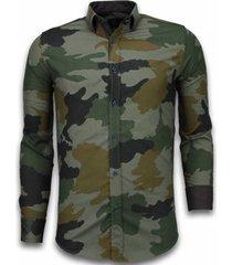 overhemd lange mouw tony backer blouse classic army pattern