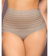 lace stripe high-waisted cheeky hipster panty 012890