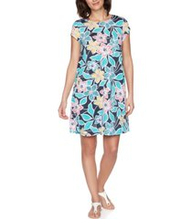 ruby rd. plus size summer floral short sleeve dress