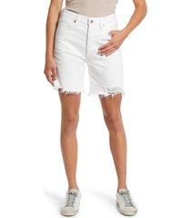 citizens of humanity camilla frayed high waist mid thigh shorts, size 23 in starlight at nordstrom