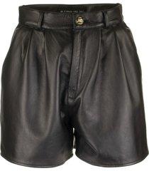etro shorts leather angelika