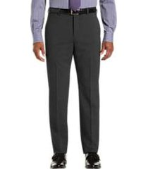 awearness kenneth cole awear-tech charcoal gray slim fit dress pants