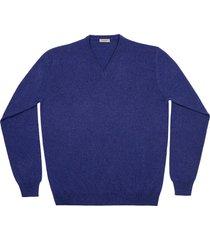 maglione da uomo, lanieri, 100% cashmere blu scuro, autunno inverno | lanieri