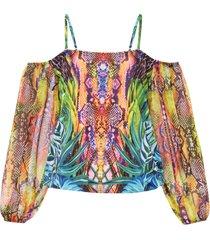 maglia con spalle scoperte e spalline (giallo) - bodyflirt boutique