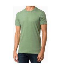 camiseta básica meia malha calvin klein verde médio