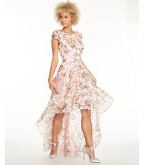 eliza j sequined high-low gown