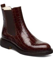 warm lining 97952 stövletter chelsea boot röd billi bi