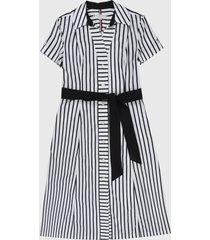 vestido blanco-azul tommy hilfiger