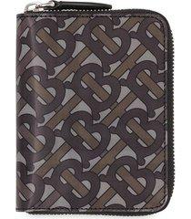 burberry 3d print ziparound wallet - neutrals