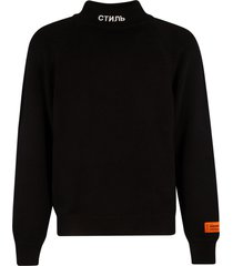 heron preston turtleneck knitted sweatshirt