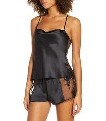 women's rya collection darling short pajamas, size medium - black