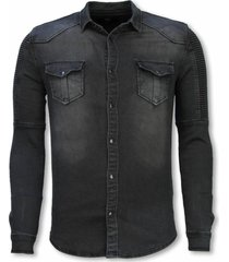 biker denim shirt