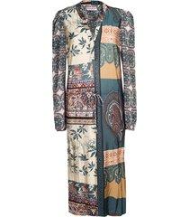 paula dress tricot paisley - multicolour