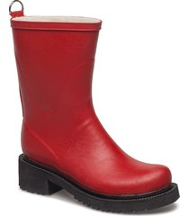 3/4 rubber boot gummistövel röd ilse jacobsen