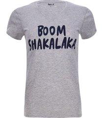 camiseta boom shakalaka color gris, talla m