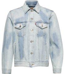 vintage fit trucker v curbside jeansjack denimjack blauw levi´s men