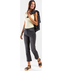 danielle mid rise cropped jeans - gray