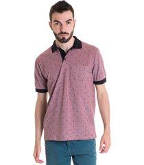 camisa polo masculina manga curta 33604 rosa