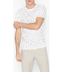 selected homme slhfeddon ss o-neck tee b t-shirts & linnen vit