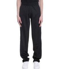 raf simons pants in black synthetic fibers