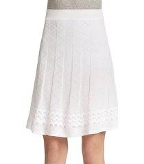 patterned knit a-line skirt