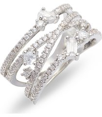 nordstrom fancy wrap ring, size 6 in clear- silver at nordstrom