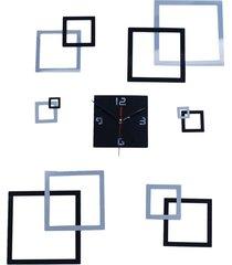 ew salón reloj de pared creativo decorativo de plata negro