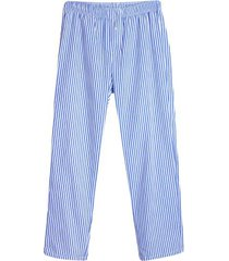 pantalon descanso hombre rayas color blanco, talla l