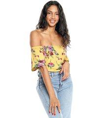 blusa amarilla-multicolor ambiance