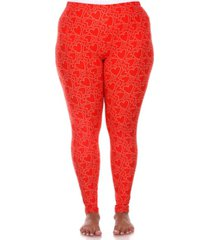 plus size super soft high-rise heart printed leggings