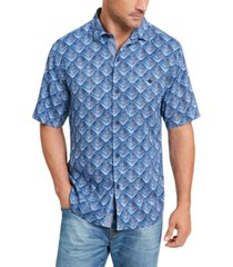 tommy bahama men's big & tall agave tiles silk camp shirt
