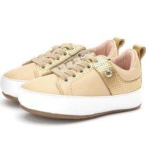 sneakers baby dourado gambo dourado