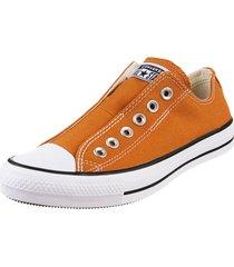 zapatilla  naranja converse  chuck taylor all star slip sli
